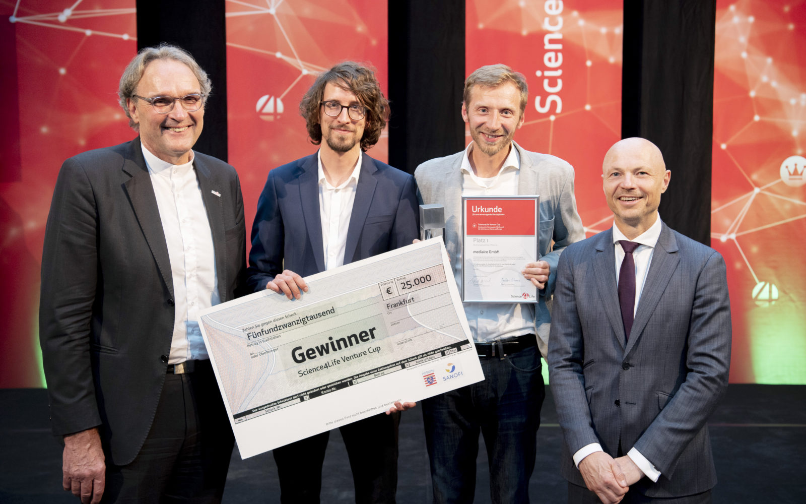 Winner of the Science4Life Venture Cup 2019