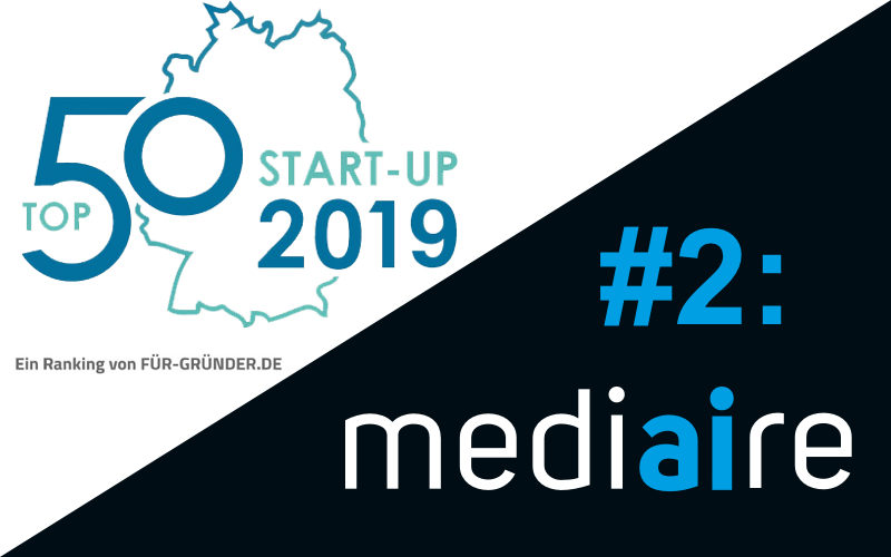 medi<strong>ai</strong>re auf Platz 2 des deutschen Start-up Rankings